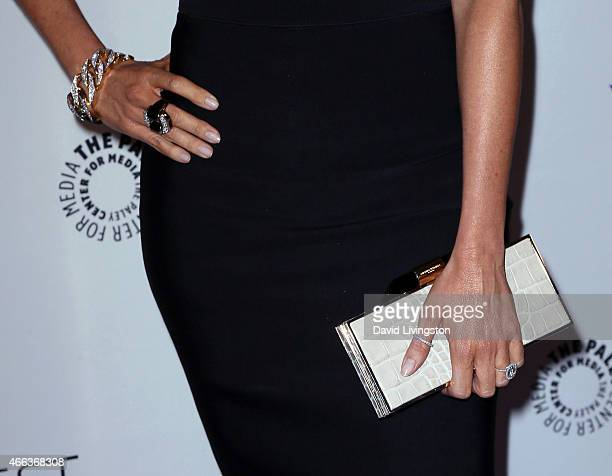 Actress Sofia Vergara purse jewelry detail attends the Modern Family event at The Paley Center For Media's 32nd Annual PALEYFEST LA at the Dolby...