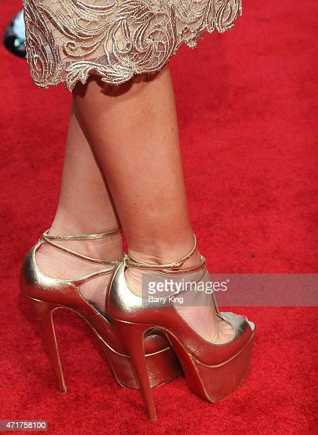 Actress Sofia Vergara shoe detail attends the premiere of 'Hot Pursuit' at TCL Chinese Theatre on April 30 2015 in Hollywood California