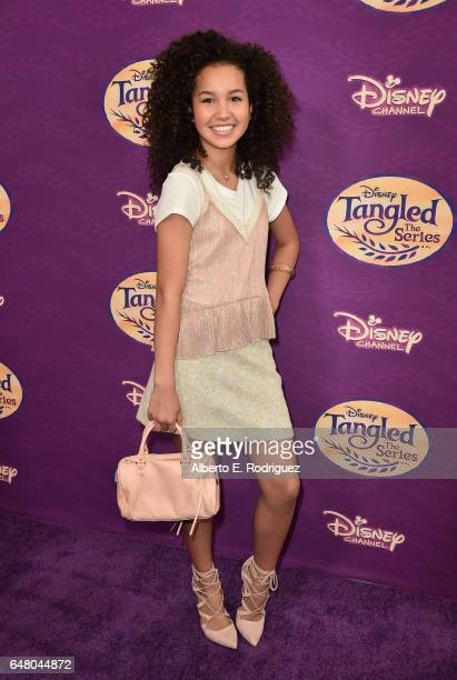 Actress Sofia Wylie attends a screening of Disney Channel's Tangled Before Ever After at The Paley Center for Media on March 4 2017 in Beverly Hills...