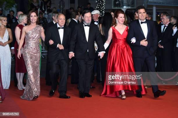 Actress Sofie Grabol actor Bruno Ganz director Lars von Trier actress Siobhan Fallon Hogan and actor Matt Dillon attend the screening of The House...
