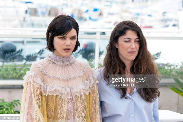 Actress Soko and director Stephanie Di Giusto attend the 'The Dancer ' photocall during the 69th annual Cannes Film Festival at the Palais des...