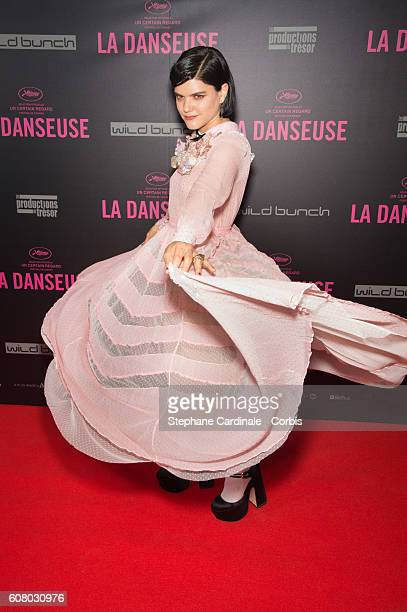 Actress Soko attends the La Danseuse Paris Premiere at Cinema Gaumont Opera on September 19 2016 in Paris France