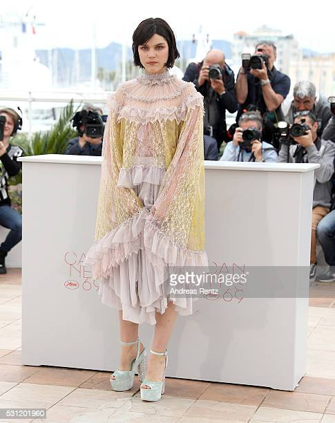 Actress Soko attends the The Dancer photocall during the 69th annual Cannes Film Festival at the Palais des Festivals on May 13 2016 in Cannes France