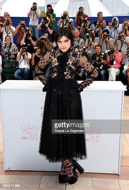 Actress Soko attends the The Stopover photocall during the 69th Annual Cannes Film Festival at the Palais des Festivals on May 18 2016 in Cannes...
