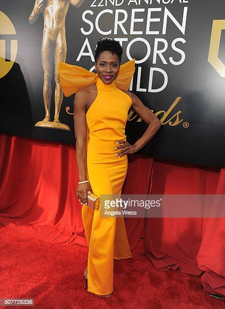 Actress Sola Bamis attends the 22nd Annual Screen Actors Guild Awards at The Shrine Auditorium on January 30 2016 in Los Angeles California