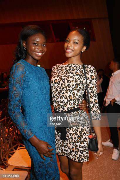"""Actress Soleil Bangba and Miss Creole Nationale 2016 model Prescilla Larose attend the """"Paris Appreciation Awards 2017"""" At The Eiffel Tower on July..."""
