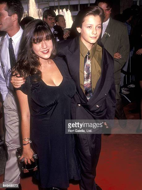Actress Soleil Moon Frye and actor Edward Furlong attend the 'Terminator 2 Judgment Day' Century City Premiere on July 1 1991 at Cineplex Odeon...