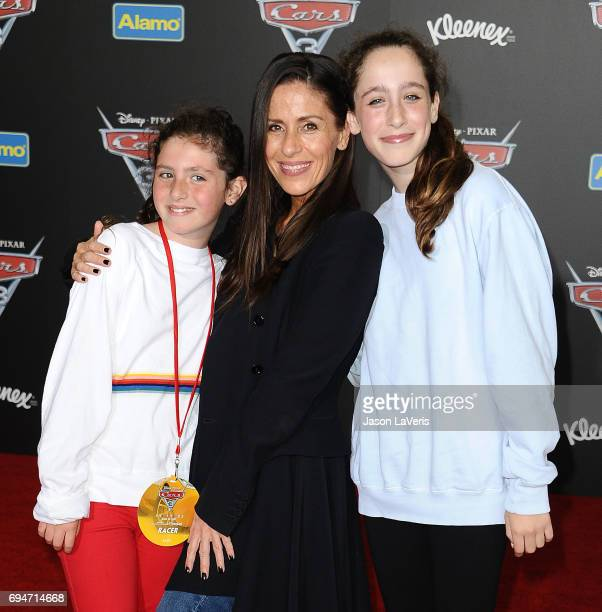 Actress Soleil Moon Frye and children attend the premiere of 'Cars 3' at Anaheim Convention Center on June 10 2017 in Anaheim California