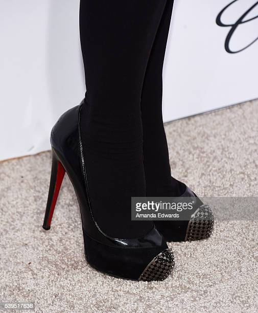 Actress Soleil Moon Frye shoe detail arrives at the 15th Annual Chrysalis Butterfly Ball on June 11 2016 in Brentwood California