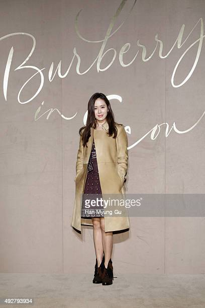 Actress Son Ye Jin attends the Burberry Seoul Flagship Store Opening Event on October 15 2015 in Seoul South Korea