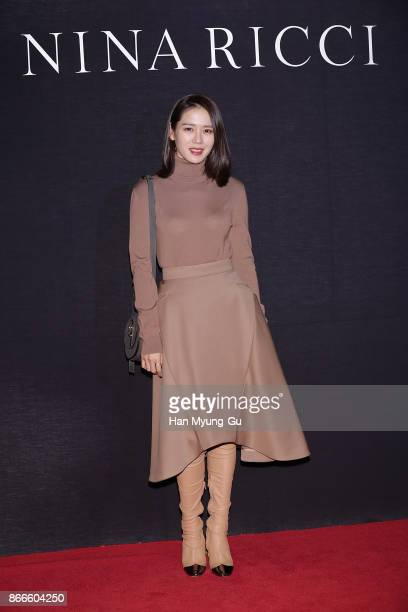 Actress Son YeJin attends the 'Nina Ricci' photocall on October 26 2017 in Seoul South Korea