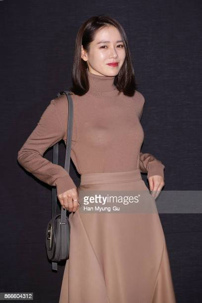 Actress Son YeJin attends the Nina Ricci photocall on October 26 2017 in Seoul South Korea
