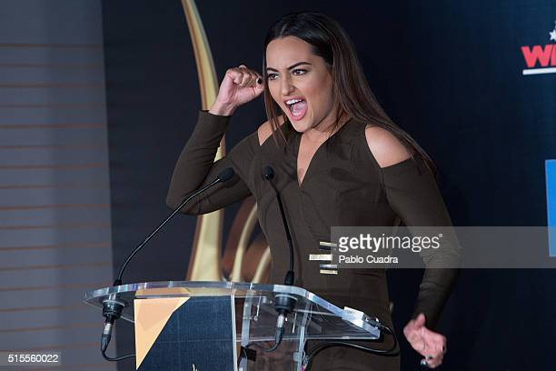 Actress Sonakshi Sinha attends the 17th International Indian Film Academy awards press conference at the Retiro Park on March 14 2016 in Madrid Spain