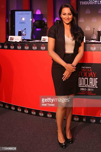 Actress Sonakshi Sinha during 10th India Today Conclave being held in the capital on March 1819 2011 at Taj Palace Hotel