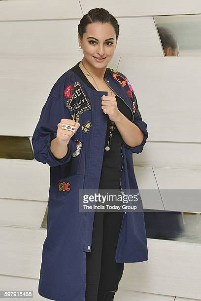 Actress Sonakshi Sinha during the promotion of her film Akira in New Delhi