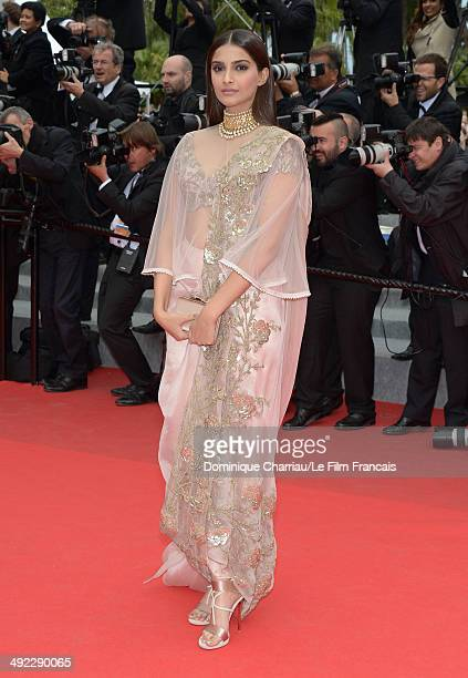 Actress Sonam Kapoor attends the 'Foxcatcher' Premiere at the 67th Annual Cannes Film Festival on May 19 2014 in Cannes France