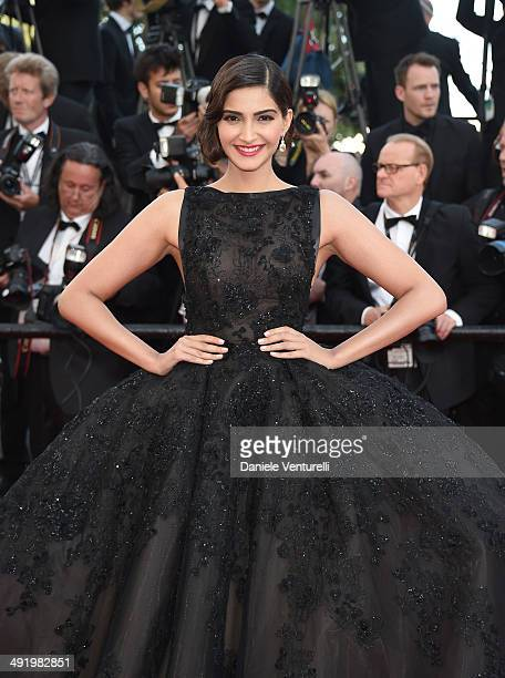 Actress Sonam Kapoor attends The Homesman Premiere at the 67th Annual Cannes Film Festival on May 18 2014 in Cannes France