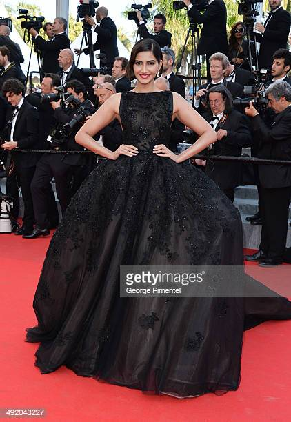 Actress Sonam Kapoor attends 'The Homesman' Premiere at the 67th Annual Cannes Film Festival on May 18 2014 in Cannes France