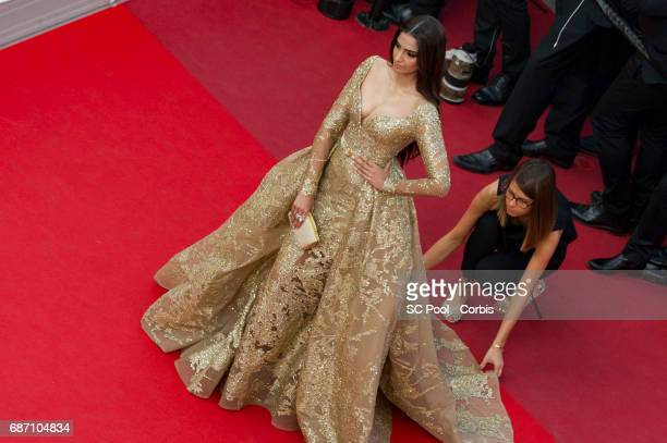 Actress Sonam Kapoor attends 'The Killing Of A Sacred Deer' premiere during the 70th annual Cannes Film Festival at Palais des Festivals on May 22...