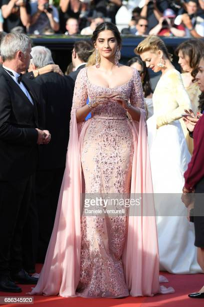 Actress Sonam Kapoor attends the 'The Meyerowitz Stories' screening during the 70th annual Cannes Film Festival at Palais des Festivals on May 21...