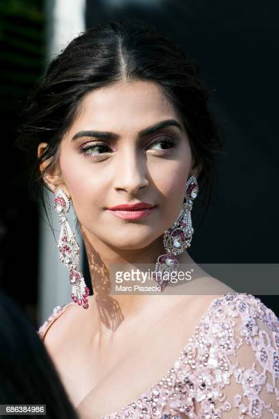 Actress Sonam Kapoor is spotted during the 70th annual Cannes Film Festival at on May 21 2017 in Cannes France