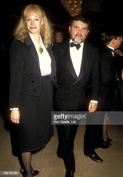 Actress Sondra Locke and Dick Guttman attend the 41st Annual American Cinema Editors Eddie Awards on March 9 1991 at Beverly Hilton Hotel in Beverly...