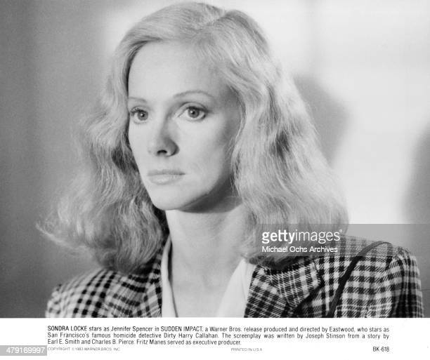 Actress Sondra Locke in a scene from the movie 'Sudden Impact' circa 1983