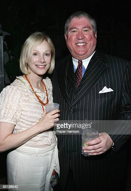 Actress Sondra Locke poses with producer Robert W McLean at the after party for the premiere of Our Very Own at Shelter nightclub on June 22 2005 in...