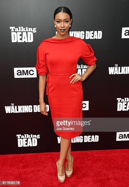 Actress Sonequa Martin attends AMC presents 'Talking Dead Live' for the premiere of 'The Walking Dead' at Hollywood Forever on October 23 2016 in...