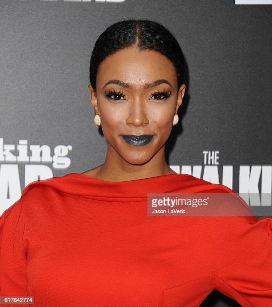 """Actress Sonequa Martin attends the live, 90-minute special edition of """"Talking Dead"""" at Hollywood Forever on October 23, 2016 in Hollywood,..."""
