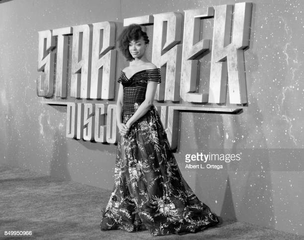 Actress Sonequa MartinGreen arrives for the Premiere Of CBS's Star Trek Discovery held at The Cinerama Dome on September 19 2017 in Los Angeles...