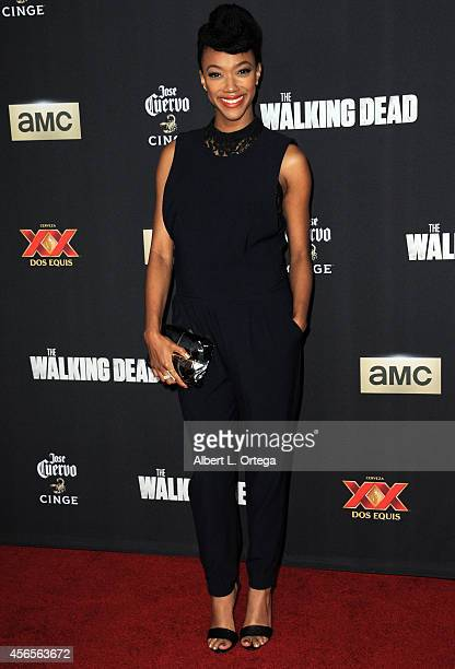 """Actress Sonequa Martin-Green arrives for the Season 5 Premiere Of """"The Walking Dead"""" held at AMC Universal City Walk on October 2, 2014 in Universal..."""