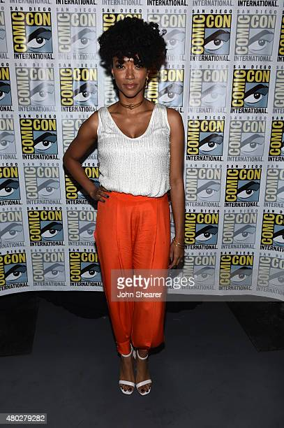 """Actress Sonequa Martin-Green attends AMC's """"The Walking Dead"""" at Comic-Con 2015 on July 10, 2015 in San Diego, California."""