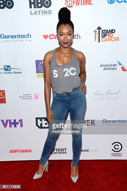 Actress Sonequa MartinGreen attends Hollywood Unites for the 5th Biennial Stand Up To Cancer A Program of The Entertainment Industry Foundation at...