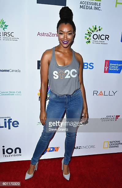 Actress Sonequa Martin-Green attends Stand Up To Cancer 2016 at Walt Disney Concert Hall on September 9, 2016 in Los Angeles, California.