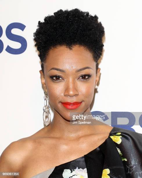 Actress Sonequa MartinGreen attends the 2018 CBS Upfront at The Plaza Hotel on May 16 2018 in New York City