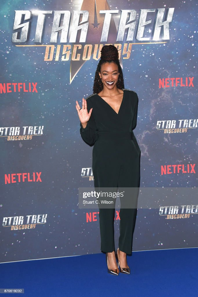 Actress Sonequa Martin-Green attends the 'Star Trek: Discovery' photocall at Millbank Tower on November 5, 2017 in London, England.