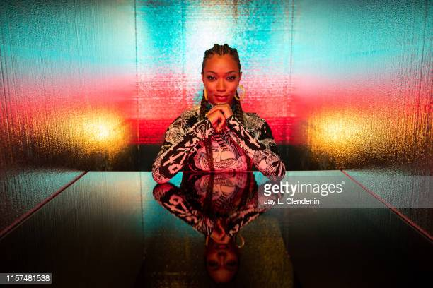 Actress Sonequa Martin-Green from 'Star Trek: Discovery' are photographed for Los Angeles Times at Comic-Con International on July 20, 2019 in San...