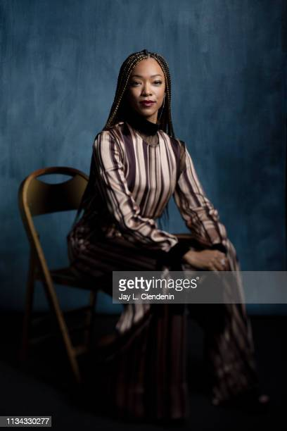 Actress Sonequa Martin-Green, from 'Star Trek: Discovery' is photographed for Los Angeles Times on March 24, 2019 during PaleyFest, at the Dolby...