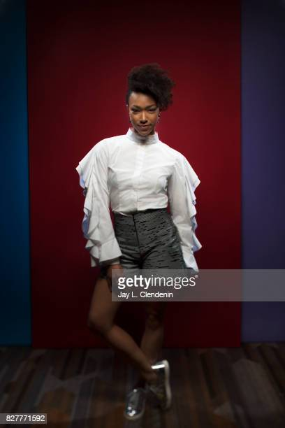 """Actress Sonequa Martin-Green, from the television series """"Star Trek Discovery,"""" is photographed in the L.A. Times photo studio at Comic-Con 2017, in..."""