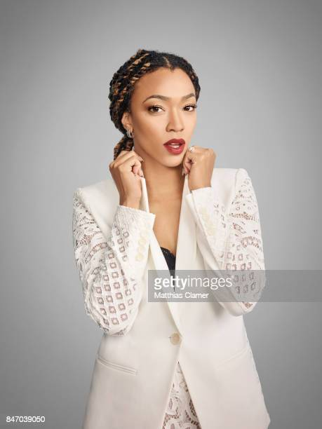 Actress Sonequa Martin-Green from 'The Walking Dead' is photographed for Entertainment Weekly Magazine on July 23, 2016 at Comic Con in the Hard Rock...