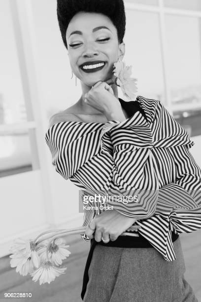 Actress Sonequa Martin-Green is photographed for W Magazine on September 18, 2017 in Los Angeles, California.
