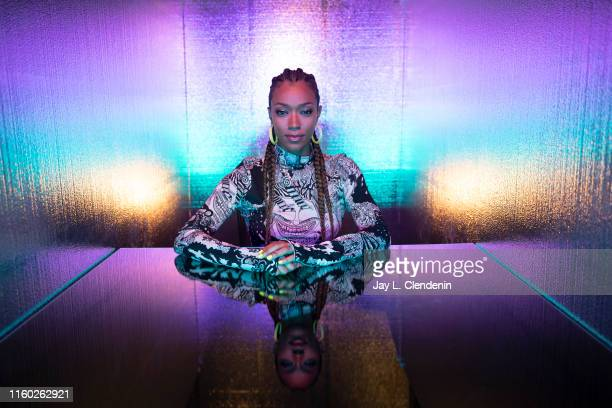 Actress Sonequa MartinGreen of 'Star Trek Discovery' is photographed for Los Angeles Times at ComicCon International on July 20 2019 in San Diego...