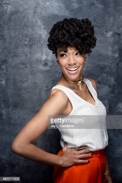 Actress Sonequa Martin-Green of 'The Walking Dead' poses for a portrait at Comic-Con International 2015 for Los Angeles Times on July 9, 2015 in San...