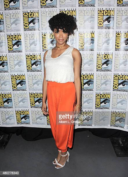 Actress Sonequa MartinGreen speaks onstage at AMC's 'The Walking Dead' panel during ComicCon International 2015 at the San Diego Convention Center on...