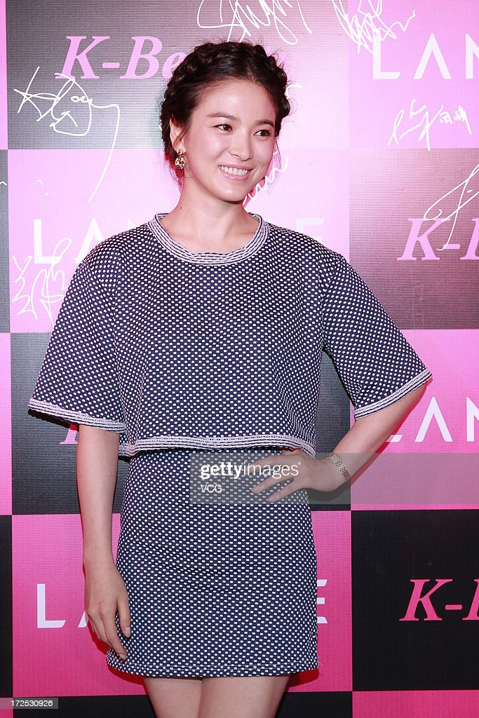 Actress Song Hye Kyo attends Laneige K-Beauty Cocktail Party at Marco Polo Hotel on July 2, 2013 in Hong Kong, Hong Kong.