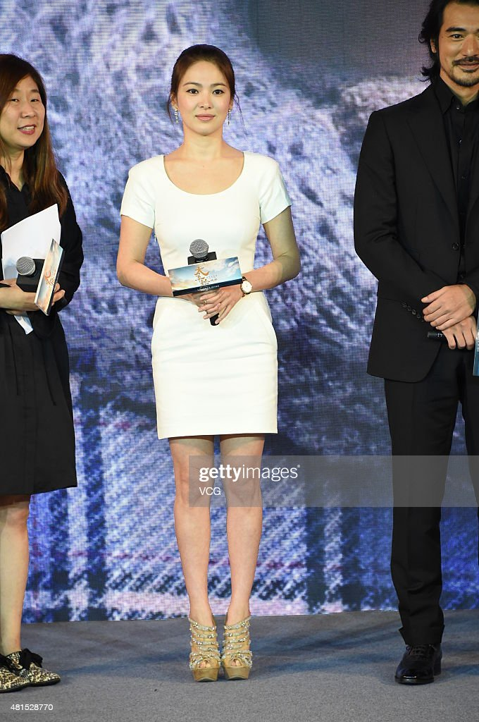 Actress Song Hye-gyo attends 'The Crossing Part 2' press conference on July 22, 2015 in Beijing, China.
