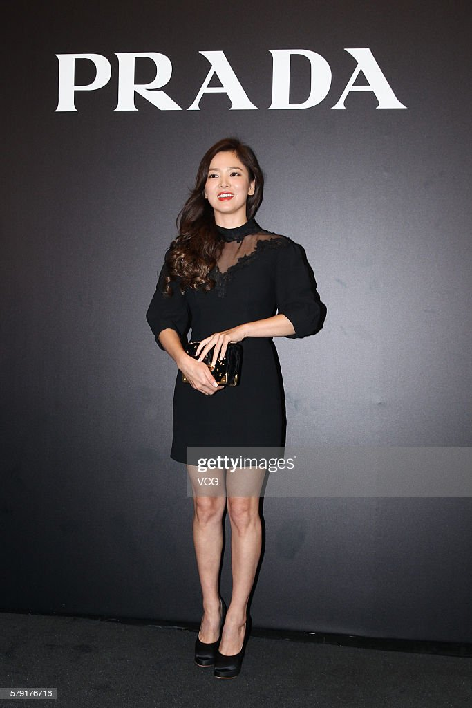 Actress Song Hye-kyo attends an opening event of Prada on July 22, 2016 in Hong Kong, China.