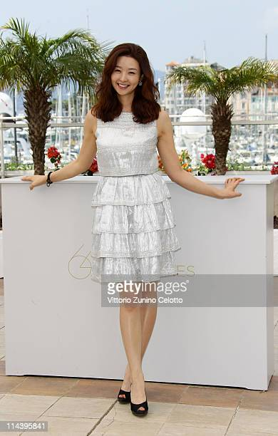 Actress Song Sunmi attends the The Day He Arrives Photocall at Palais des Festivals during the 64th Annual Cannes Film Festival on May 19 2011 in...