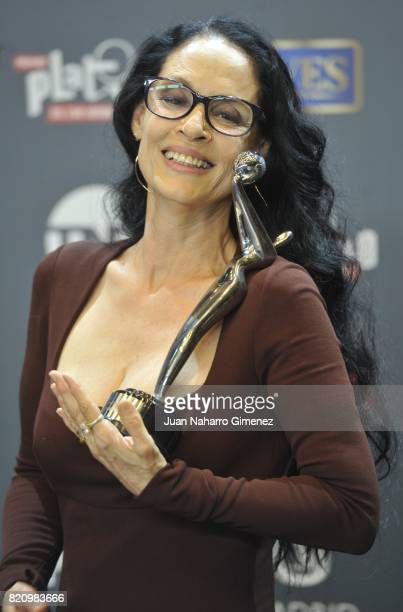 Actress Sonia Braga attends the 'Platino Awards 2017' winners photocall at La Caja Magica on July 22 2017 in Madrid Spain He receives the 'Best...